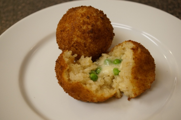 Rice Balls Made from Faux Risotto